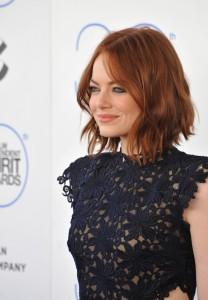 Emma Stone with loose waves