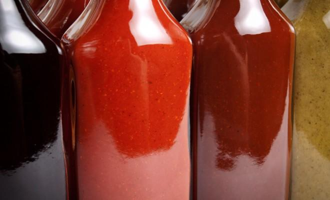Bottles of hot sauce