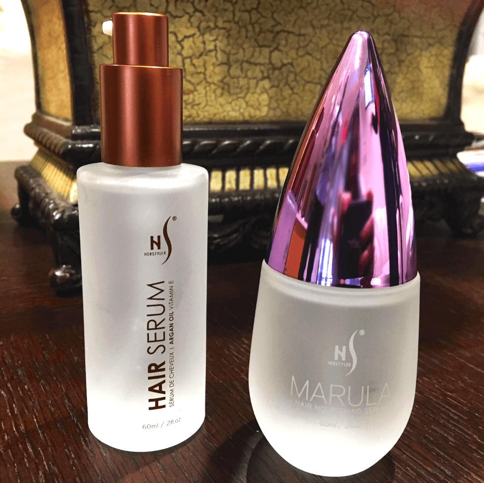 Herstyler Argan Oil Hair Serum and Marula Oil