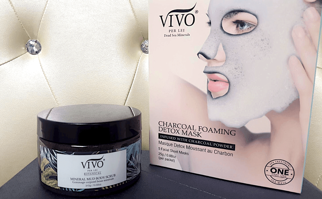 Vivo Per Lei Mud Body Scrub and Charcoal Sheet Masks product review