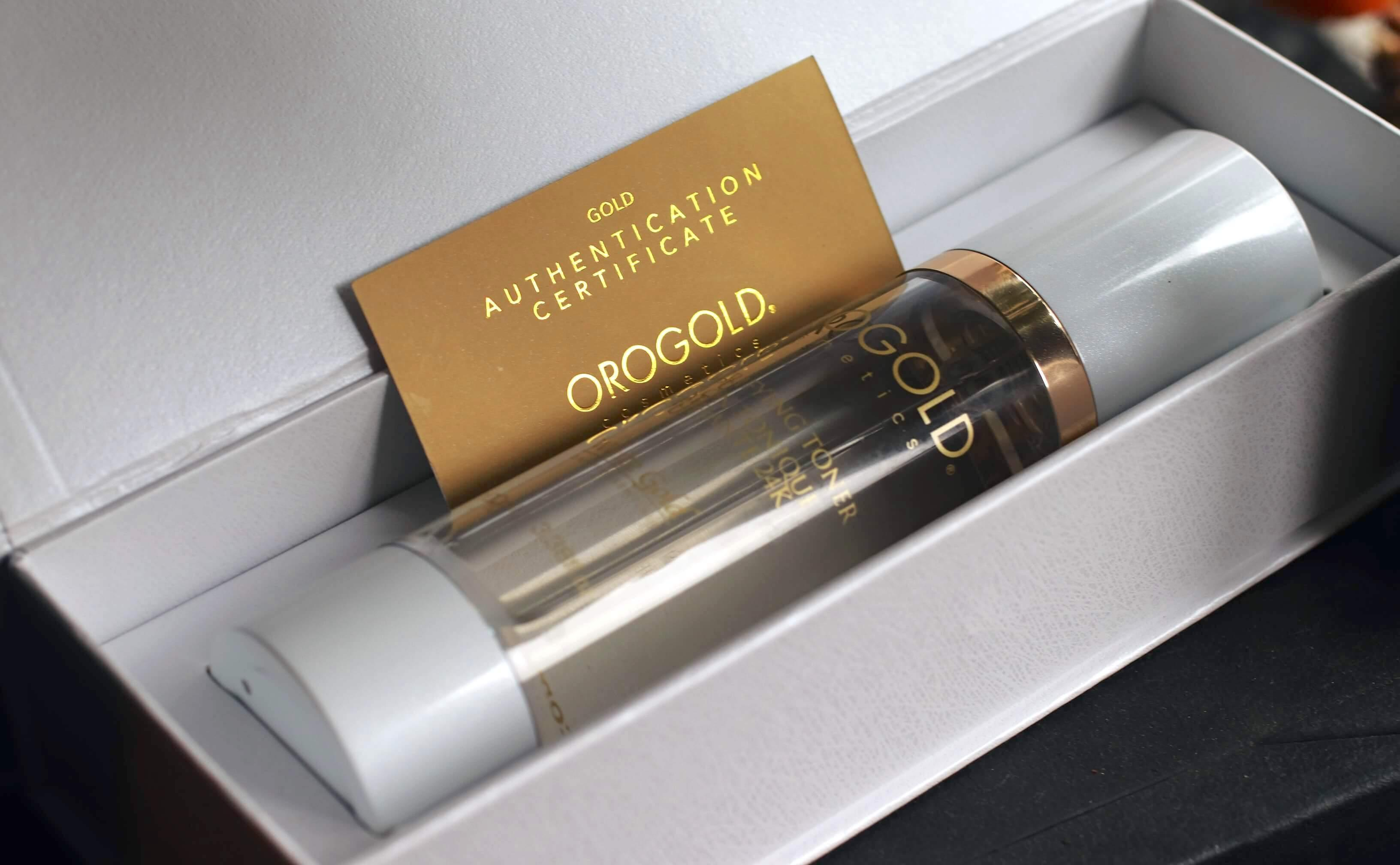 OROGOLD 24K White Gold Purifying Toner review